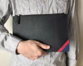 PRada限量版男士手包,意大利顶级十字纹牛皮制作质感极好